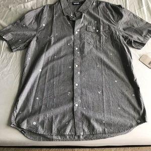 Vans shirt sleeve button down shirt grey